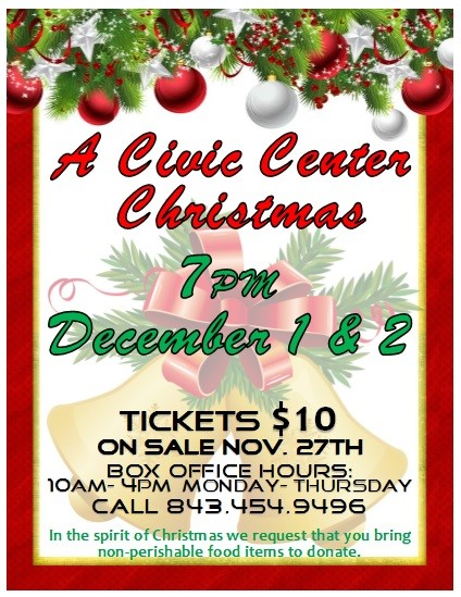A Civic Center Christmas Flyer 2017