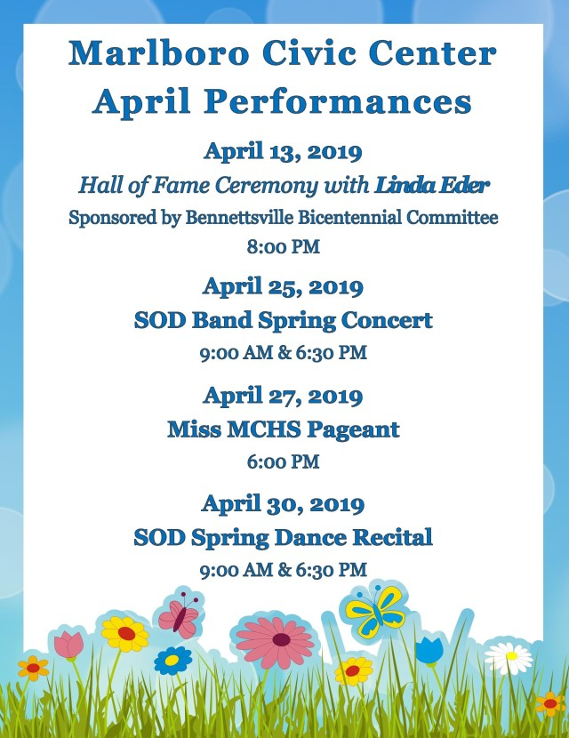 April 2019 Performances